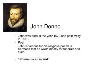 Essays on John Donne. Free Examples of Research Paper